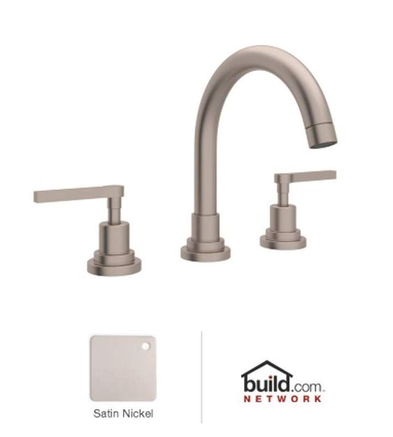 Rohl A2228LM-2 Lombardia Bath Widespread Bathroom Faucet includes Brass Pop-Up D Satin Nickel Faucet Lavatory Double Handle