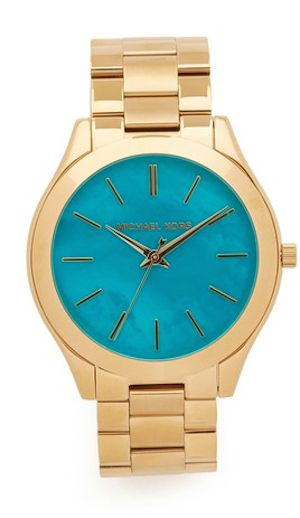 loving this turquoise faced Michael Kors watch