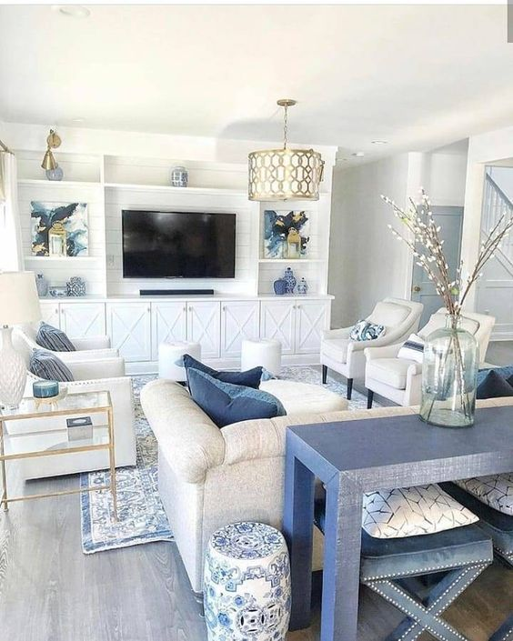 23 Beautiful Coastal Farmhouse Decor Ideas Designs For 2021 Luxury Living Room Living Decor Classic Home Decor