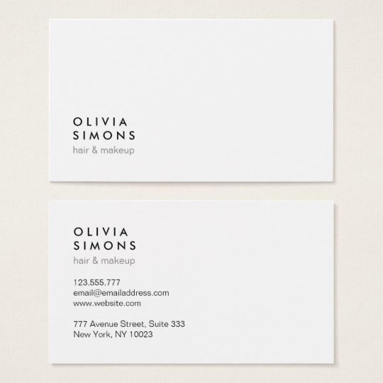 Minimalist Business Cards Zazzle Com With Images Graphic