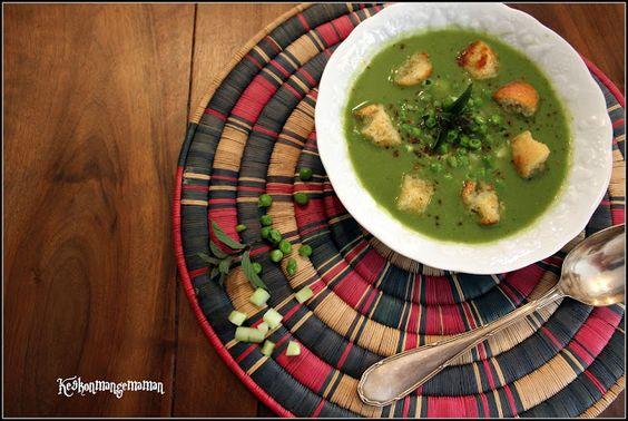 Keskonmangemaman?: Gaspacho de petits pois et concombre à la menthe