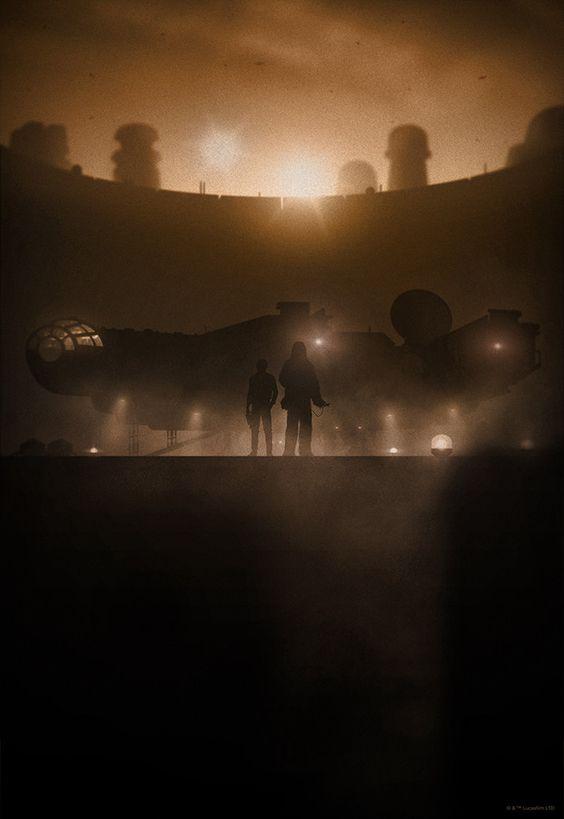 Marko Manev's Stylishly Silhouetted STAR WARS Prints PosterStar WarsMarko Manev