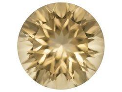 Kadenze(Tm) Collection Mandiore Dorado Quartz(Tm) Average 1.75ct 8mm Round Quantum Cut(R)