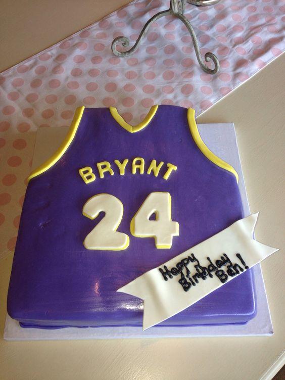 A Kobe Bryant Birthday Cake