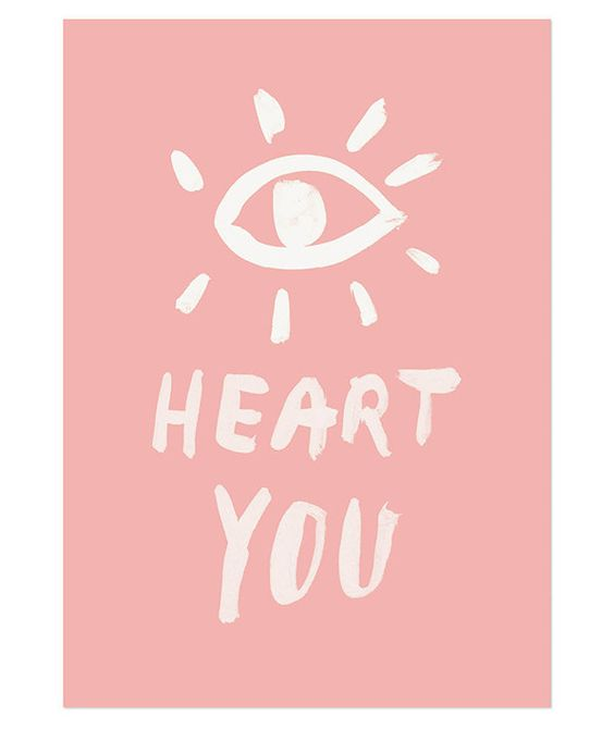 The Minimalist - eye heart you / limited edition print