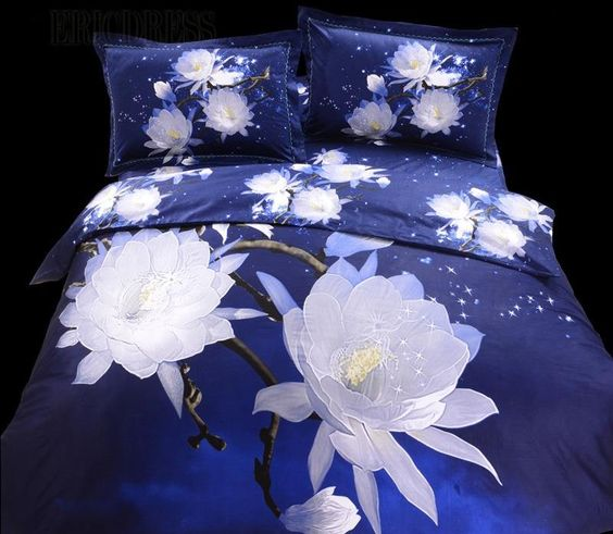 mangnolia flower 100% cotton 3d bedding sets 3d bedding sets