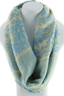 Lovely Finds Clothing - Infinity scarf - blue taupe, $24.00 (http://www.lovelyfindsclothing.com.au/infinity-scarf-blue-taupe/)