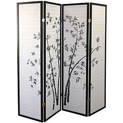 @Overstock - This decorative screen features a black finish with bamboo silhouettes and four hinged panels. This beautiful screen makes the perfect room divider for any style.  http://www.overstock.com/Home-Garden/4-panel-Black-Bamboo-Room-Divider/5127309/product.html?CID=214117 $95.75
