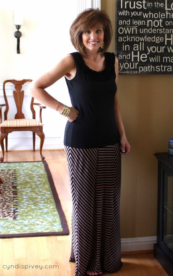 How to Dress Over 40 | ... area, you can wear a looser fitting blouse over your maxi skirt