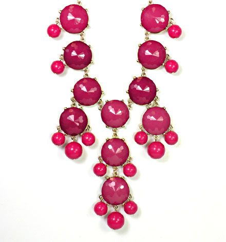 Bauble Necklace (fuchsia)-it's back in stock!  www.behandpicked.com