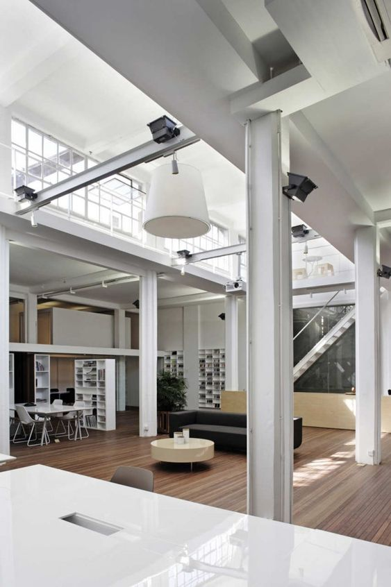 Office spaces offices and spaces on pinterest for Cool office interiors