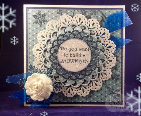 Couture Creations: Frozen by Tracey Cooley | #couturecreationsaus #cards #FROZEN #Disney #snow #ornamentallacedies #decorativedies #nestingdies #tutorial #:
