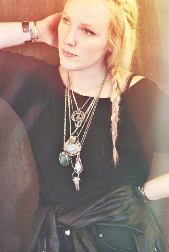 Layered Pendant Necklaces bellaandchloe.com