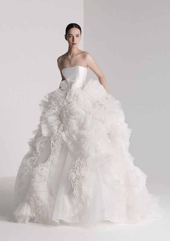 white big ruffle wedding dress - wedding ideas - wedding planning services - weddings by K'Mich in Philadelphia PA - antonio riva