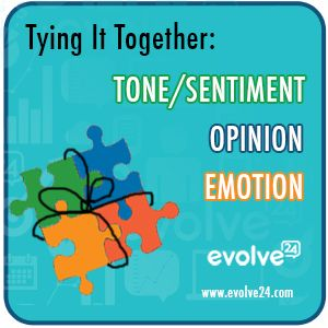 Tone. Opinion. Emotion. Tying it all together. | www.evolve24.com