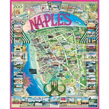 White Mountain Puzzles Naples, FL Puzzle, 1000 Pieces - Walmart.com