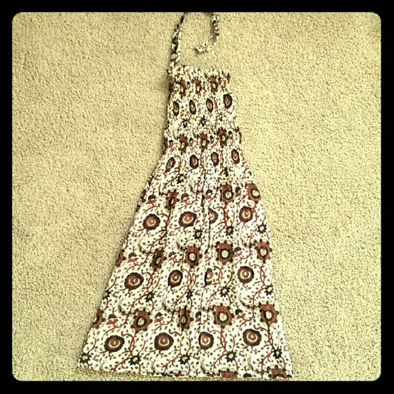 Indian boho sun dress Size S/M, stretch top. Length 29 in. Dresses Mini