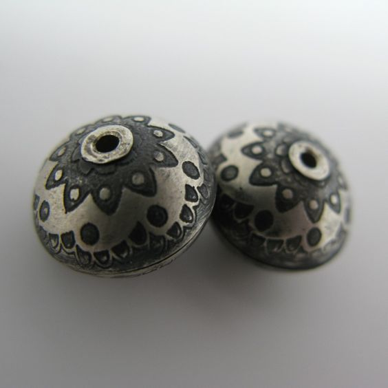 Artisan Sterling Silver Beads--Paisley.