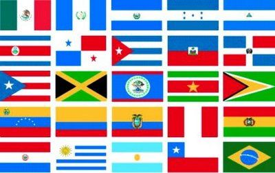 Image result for image of latin america and flags