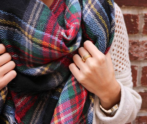 Plaid Blanket Scarf via @CobaltChronicles