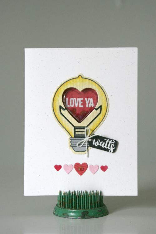 Love Ya Watts Card by Jaclyn Rench featuring Jillibean Soup Shape Shakers:
