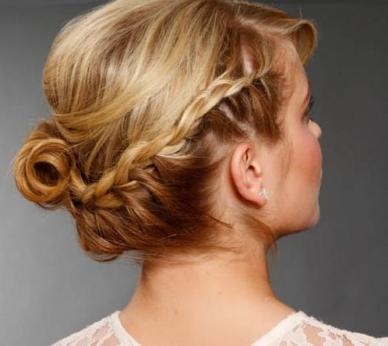 Adding a braid makes this classic style more modern and romantic!