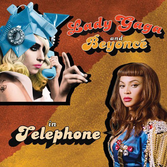 Lady Gaga, Beyoncé – Telephone (single cover art)