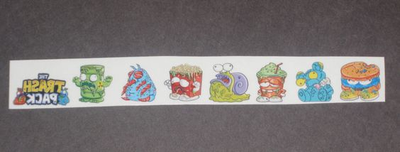 The Trash Pack temporary tattoos. Set of 8  by SnifferdoodleDough, $4.00