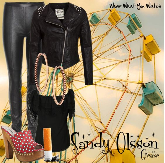 Inspired by Olivia Newton-John as Sandy Olsson in the 1978 musical film Grease.
