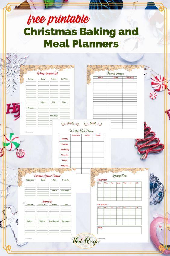 Free Printable Christmas Baking And Meal Planners Giveaway Christmas Planner Printables Free Christmas Printables Christmas Printables