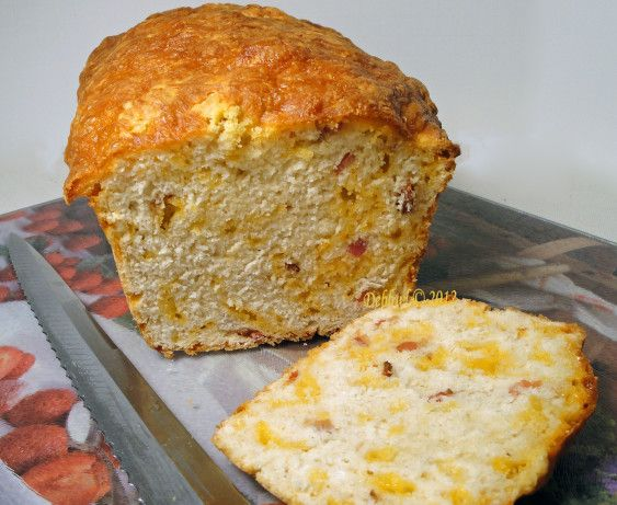 Found thru Pinterest, this is similar to the Tastefully Simple beer bread recipes, with the addition of bacon and cheddar. Tasty, with a nice crust, this takes no time to mix together, and you have great, hot bread in less than 75 minutes. Credit for recipe goes to The Slow Roasted Italian blogspot.