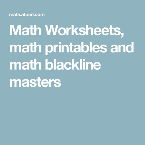 Printables Math Masters Worksheets worksheets math and printables on pinterest blackline masters