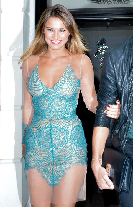 Essex beauty Sam Faiers wore the For Love And Lemons dress first for a night out at Mahiki with boyfriend Joey Essex [Splash]
