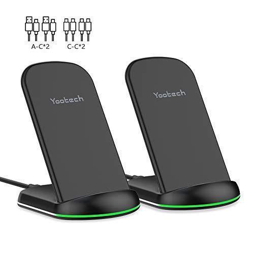 Yootech Wireless Charger 2 Pack 10w Max Qi Certified Wir Https Www Amazon Co Uk Dp B07pfjk2sn Ref Cm Sw R Pi Aw Wireless Charger Wireless Samsung Watches
