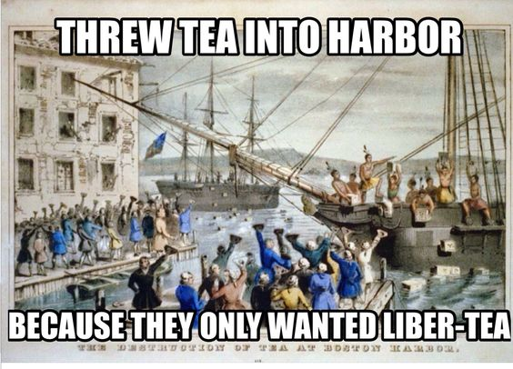 Image result for Boston tea party memes