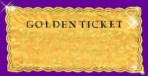 golden ticket form time ideas pinterest golden. Black Bedroom Furniture Sets. Home Design Ideas