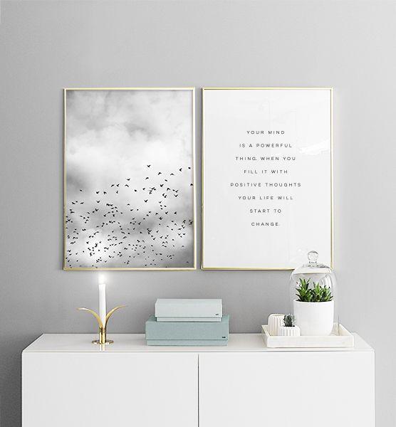 Bird Sky Poster Bird Plakat Poster Sky Room Decor Home Decor Decor