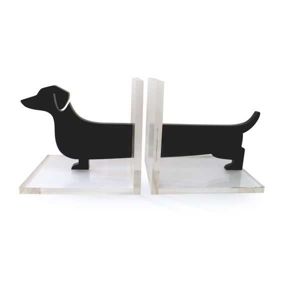 Modern Doxie Bookend