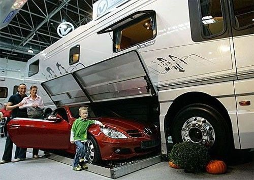 Charming Cool Garages · Luxury Motorhome Great Pictures