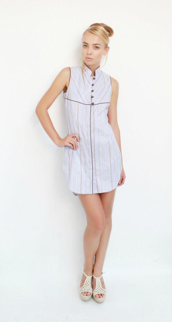 RTW103D - Lovely Stripe Shirt Dress on Etsy, $359.00