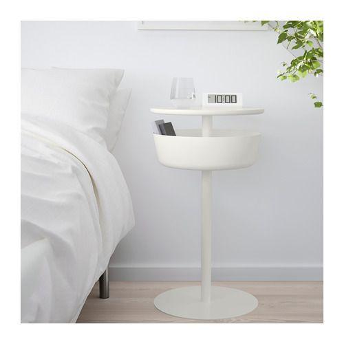 Lierskogen Stolik Nocny Bialy Kup Online Lub W Sklepie Ikea White Nightstand White Bedside Table Bedside Table Ikea