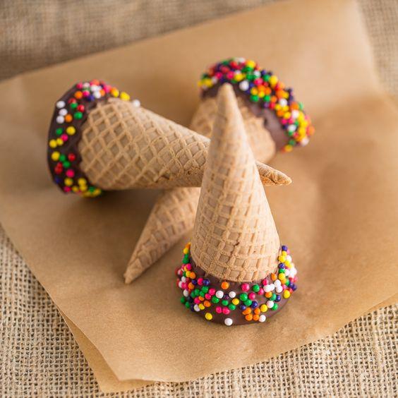 Chocolate Filled Ice Cream Cones