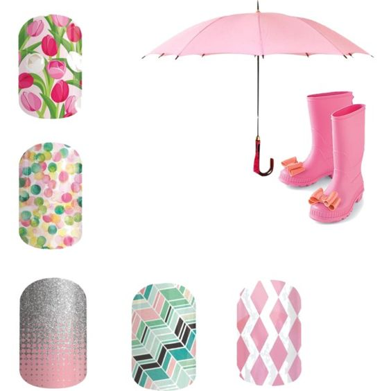 Jamberry Nails - Pretty in Pink; Rose Colored Glasses; Gelato; Out of Focus; Fade In;