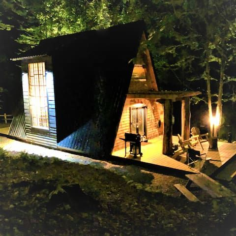 The A Frame At Evergreen Cabins Sleep Under Stars Cabins For Rent In Remsen New York United States Cabin A Frame Cabin A Frame House