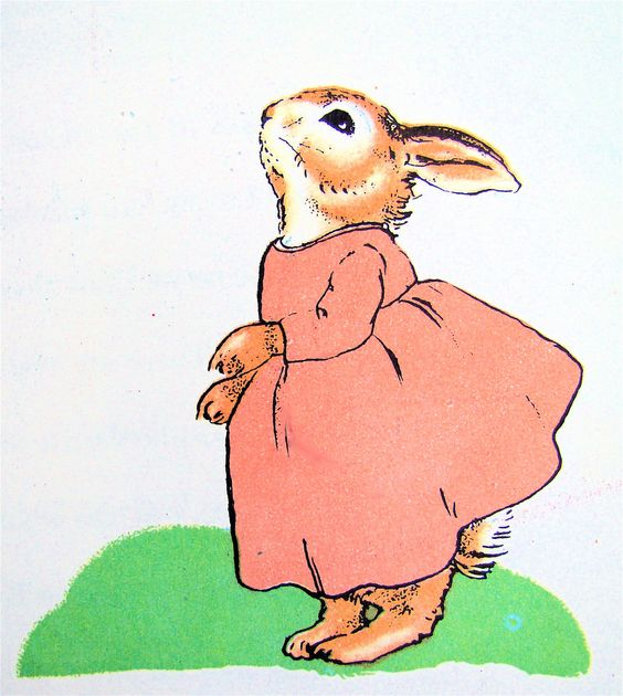 "Marjorie Flack, illustration for ""The Country Bunny and the Little Gold Shoes"" by DuBose Heyward"