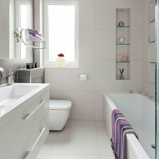 Small Modern White Bathroom, White Modern Bathroom Ideas Photo Gallery
