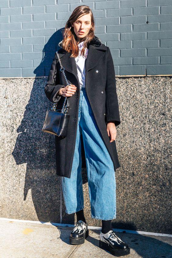Street Style: Ruby Aldridge's High Waisted Denim