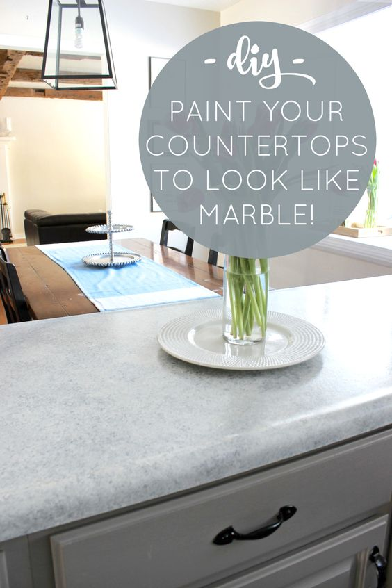 Diy marble countertops from outdated laminate to beautiful 39 marble 39 for less than 100 a - Diy redo kitchen countertops ...