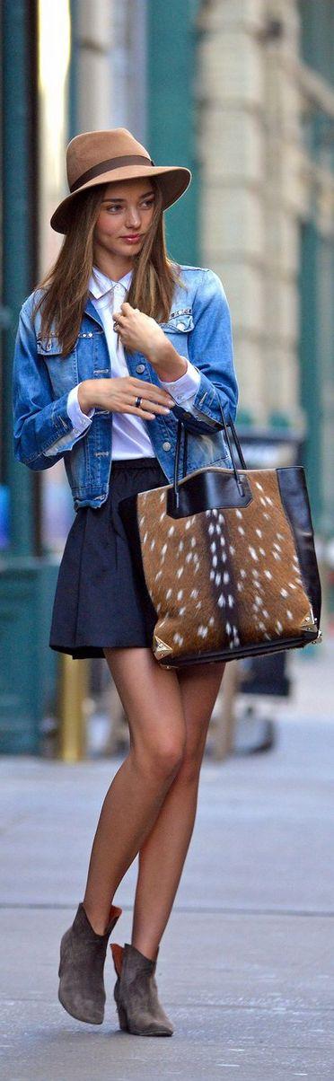 Miranda Kerr giving us major denim jacket inspiration. Try it now with the Talula Harlem Jacket on Aritzia.com (http://aritzia.com/Talula-HARLEM-JACKET/45169,default,pd.html?dwvar_45169_color=9270#start=1).
