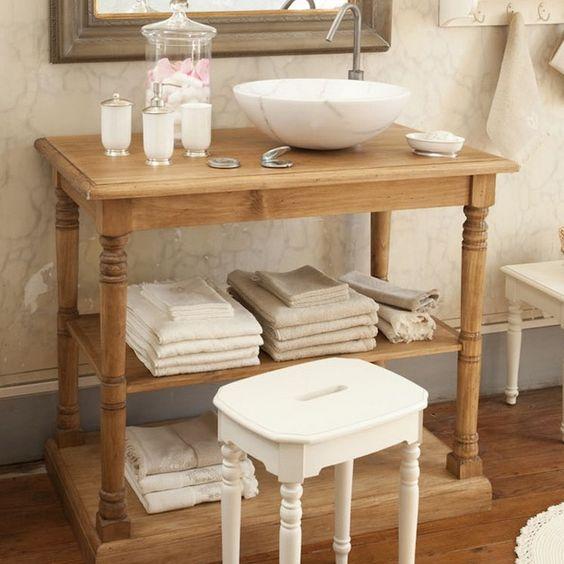 Meuble de salle de bain Comptoir de famille - Une petite console ...